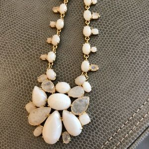 Kate Spade White And Gold Statement Necklace